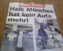Halb München hat kein Auto mehr, Titelthema der tz